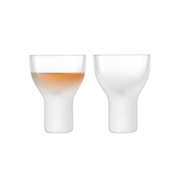 LSA Mist Liqueur Glass 50ml Part Frost Set Of Two