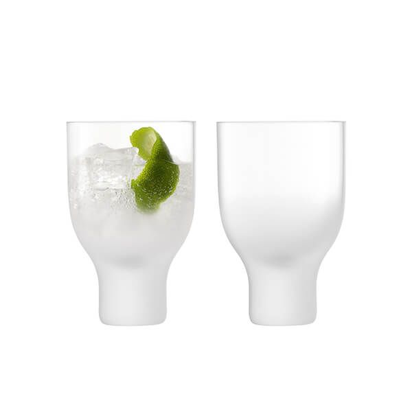 LSA Mist Tumbler 325ml Part Frost Set Of Two
