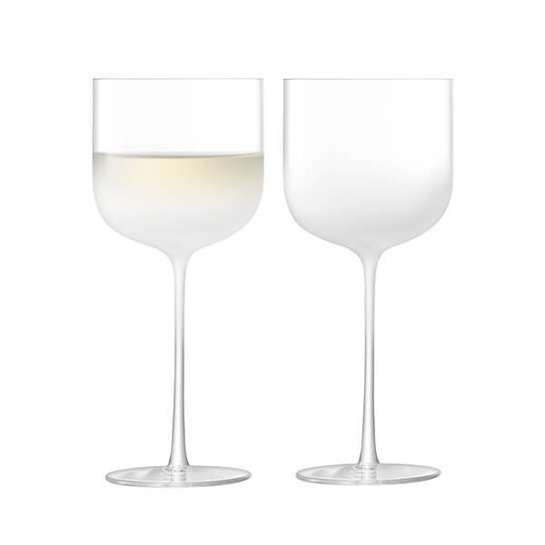LSA Mist Wine Glass 375ml Part Frost Set Of Two