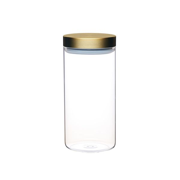 Master Class Large Glass Canister with Burnished Brass Lid