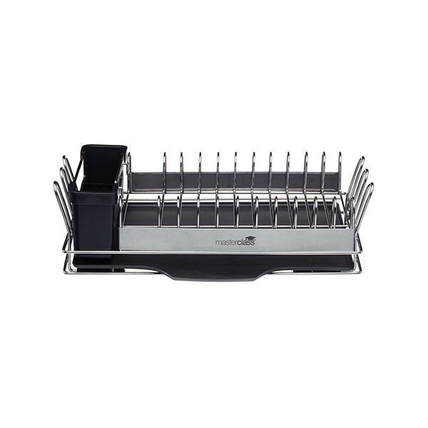 Master Class Compact Stainless Steel Dish  Rack Drainer