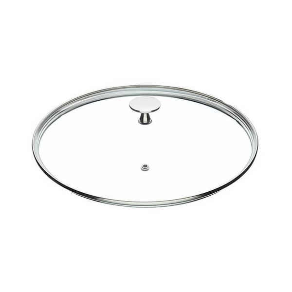 Master Class Glass Lid 28cm Stainless Steel Knob