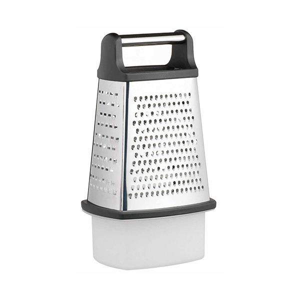 Master Class Stainless Steel Four Sided Box Grater with Collecting Box 23cm