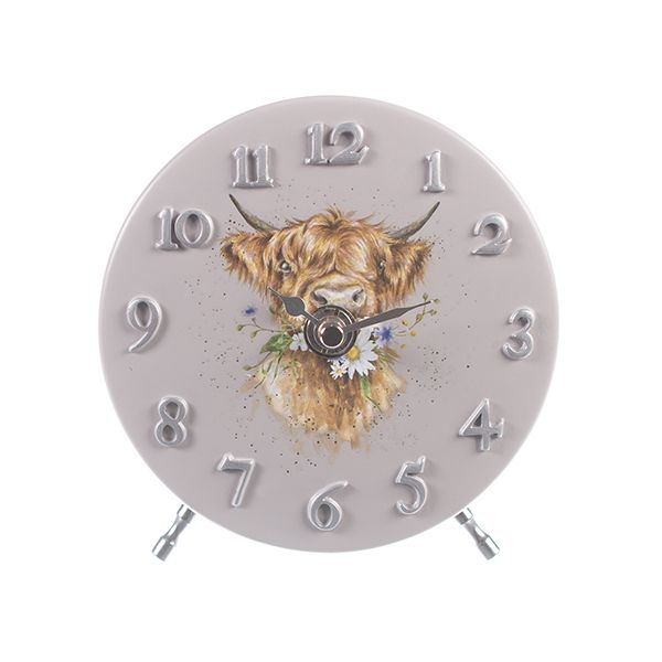 Wrendale Designs Cow Mantel Clock