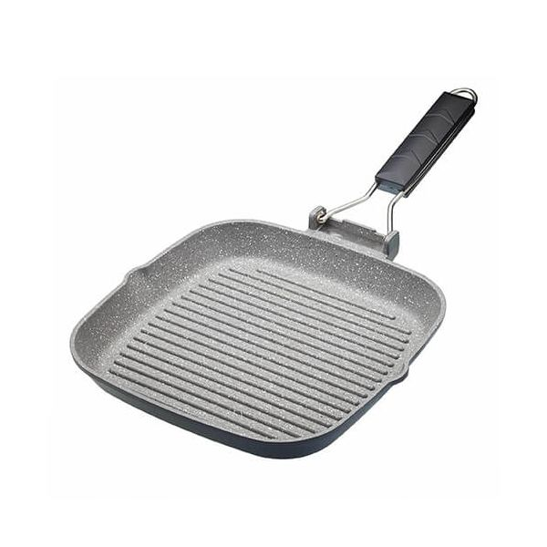 Master Class Induction Aluminium 24cm Grill Pan Marble Coating