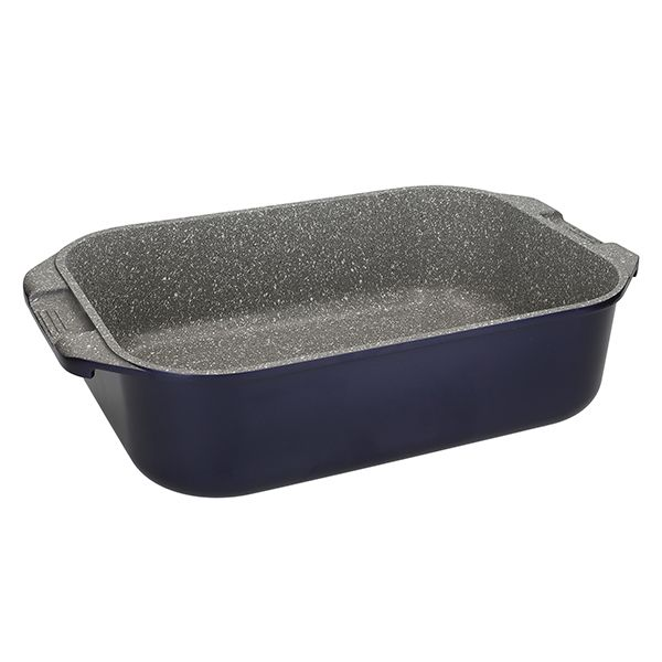 MasterClass Metallic Blue Cast Aluminium 34cm Roasting Pan