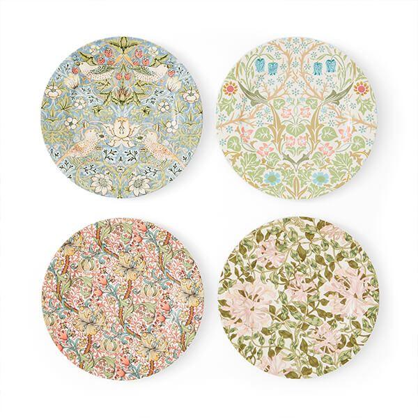 Morris & Co Set of 4 Mixed Design Plates