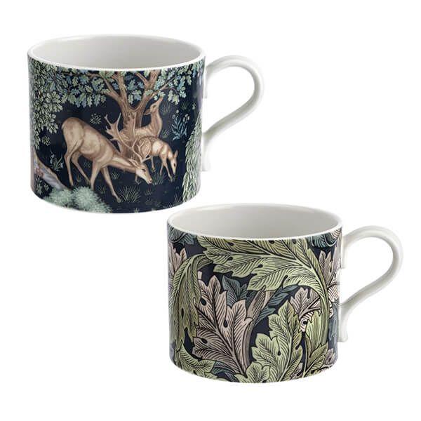 Morris & Co Brook & Acanthus Mugs Set of 2