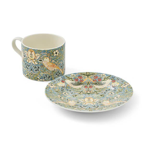 Morris & Co Strawberry Thief Teacup & Saucer