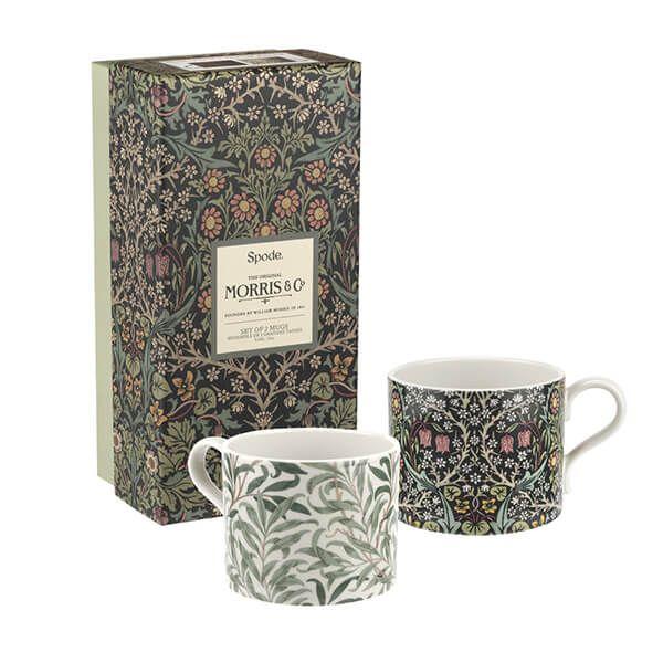 Morris & Co Willow Bough & Blackthorn Mugs Set of 2
