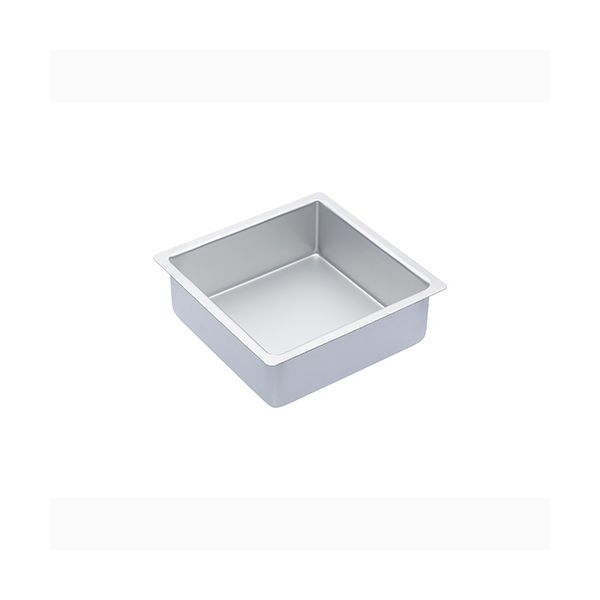"Master Class Silver Anodised 20cm / 8"" Square Cake Pan"