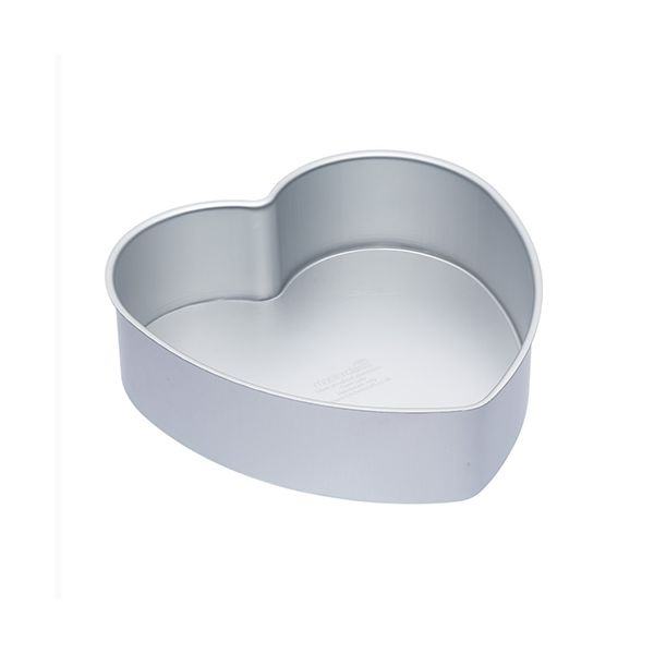 """Master Class Silver Anodised 25cm / 10"""" Heart Cake Pan Loose Base"""