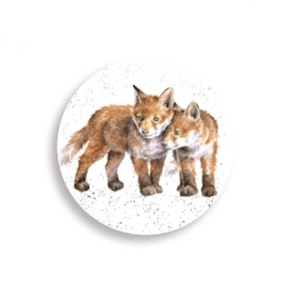 Wrendale Designs Fox Cubs Magnet
