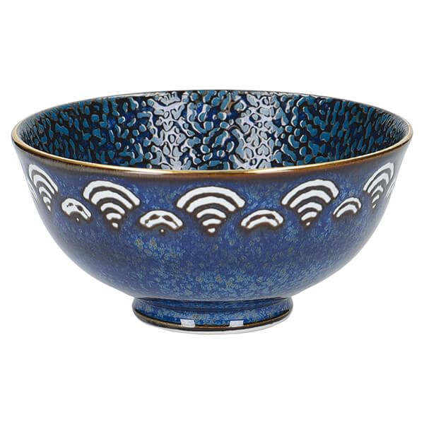 Mikasa Satori 11.5cm Seigaiha Border Miso Serve Bowl