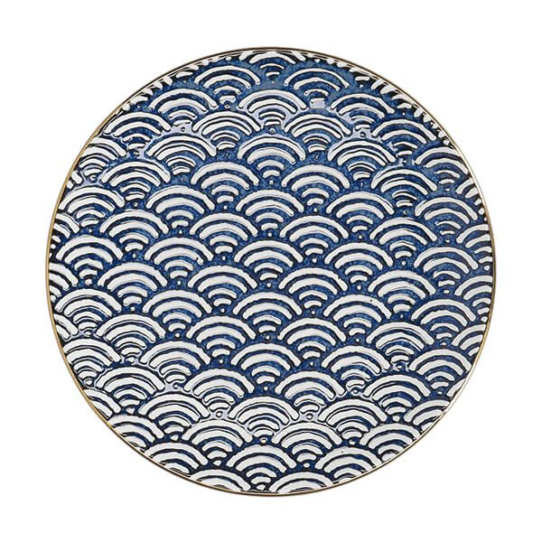 Mikasa Satori 22cm Seigaiha Wave Side Plate