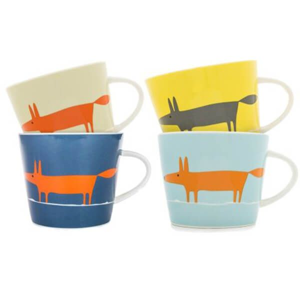 Scion Living Mr Fox Set of 4 350ml Mugs