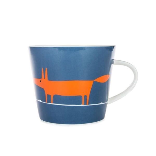 Scion Living Mr Fox Denim & Orange 350ml Mug