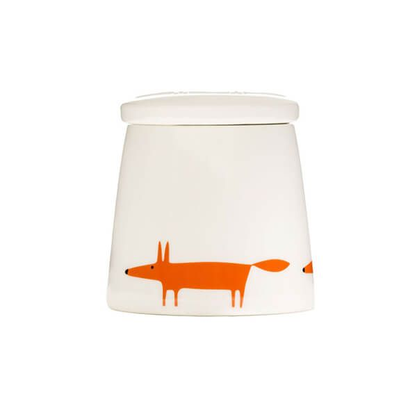 Scion Living Mr Fox Ceramic & Orange Small Storage Jar