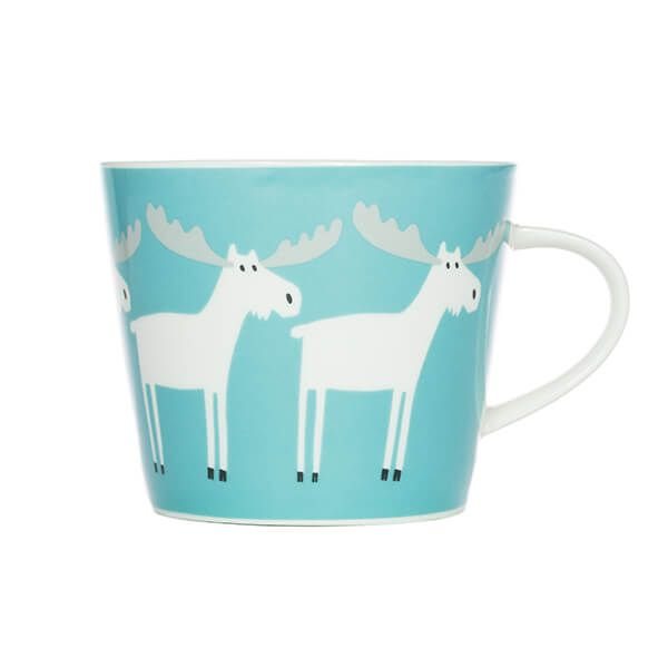 Scion Living Marty Moose Aqua & Frost 350ml Mug