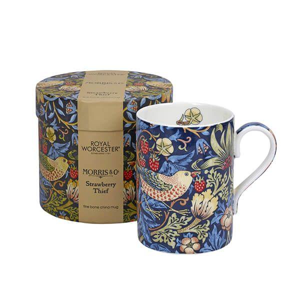 Morris & Co Strawberry Thief Indigo / Mineral Mug