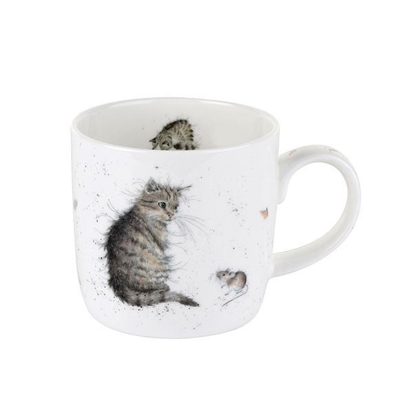 Wrendale Designs Fine Bone China Mug Cat and Mouse 6 for 5