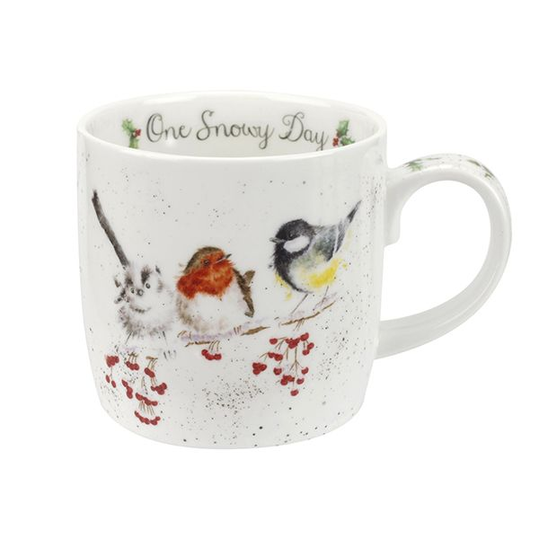 Wrendale Designs Fine Bone China Mug One Snowy Day Birds