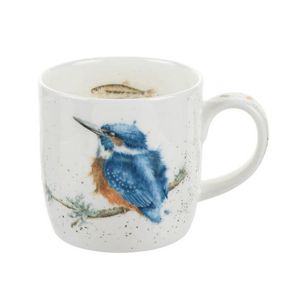 Wrendale Designs Fine Bone China Mug King of the River Kingfisher 6 for 5