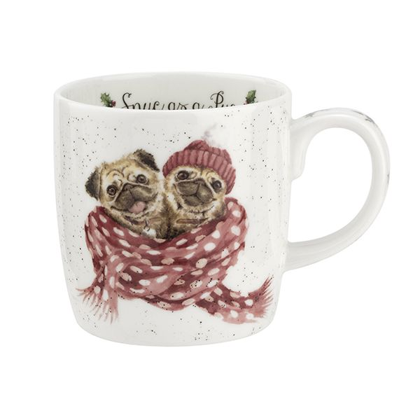 Wrendale Designs Fine Bone China Mug Snug as a Pug