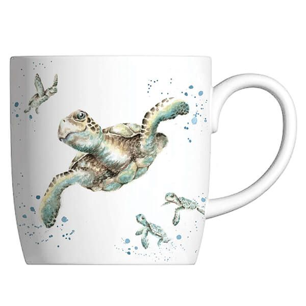 Wrendale Designs Fine Bone China Mug Swimming School, Turtle
