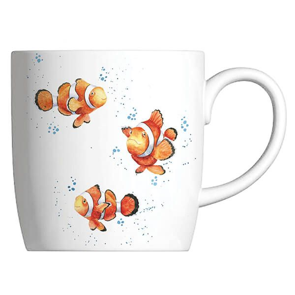 Wrendale Designs Fine Bone China Mug Clowning Around, Clown Fish