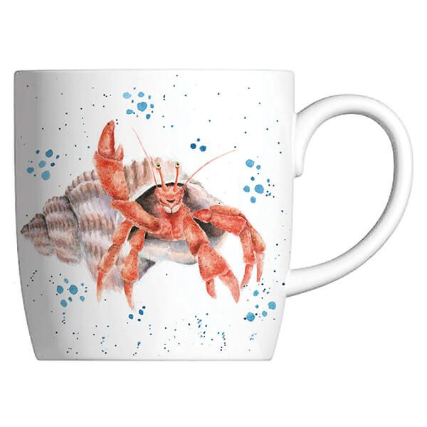 Wrendale Designs Fine Bone China Mug Happy Crab, Hermit Crab