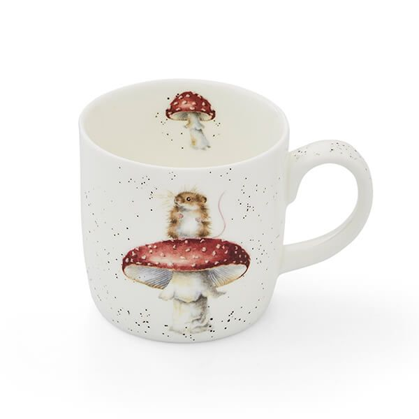 Wrendale Designs He's a Fun-gi Mouse & Mushroom Fine Bone China Mug