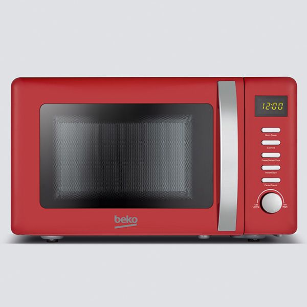 Beko 800 Watt / 20 Litre Microwave Retro Red
