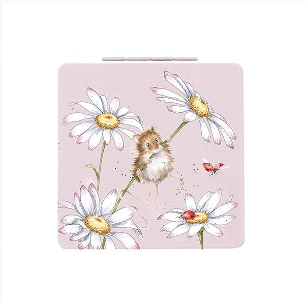 Wrendale Designs Oops A Daisy Mouse Compact Mirror