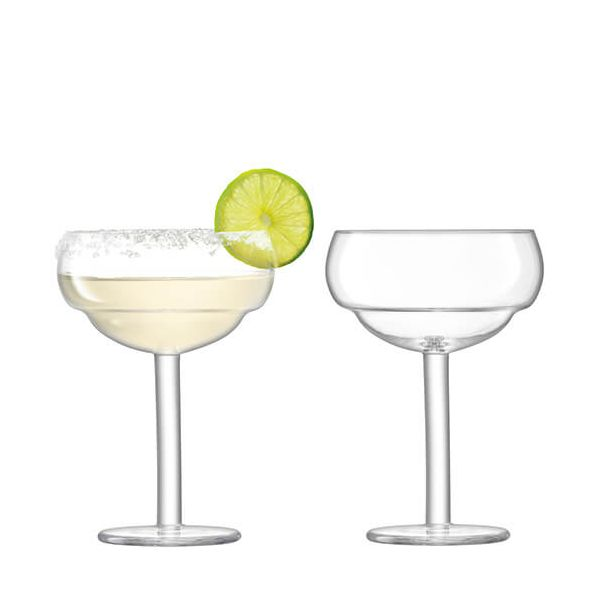 LSA Mixologist Clear Cocktail Coupe Glass 320ml Set Of Two