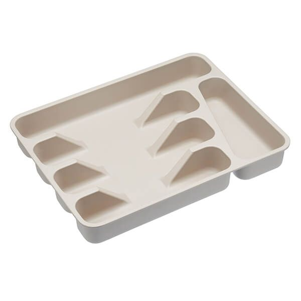 Natural Elements Eco-Friendly Bamboo Fibre Cutlery Tray