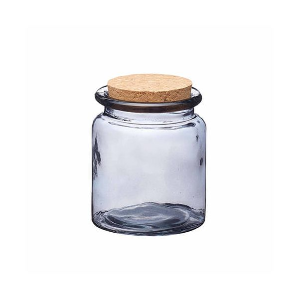 Natural Elements Small Glass Storage Jar With Cork Lid