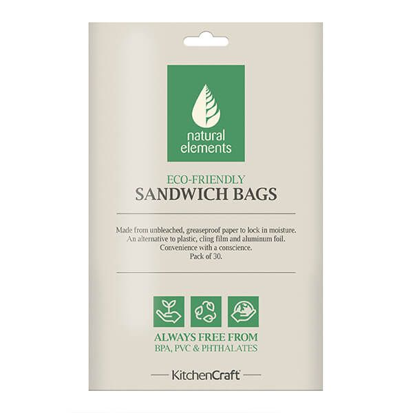 Natural Elements Pack of 30 Sandwich And Snack Bags