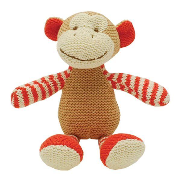 Walton & Co Knitted Monkey Rattle