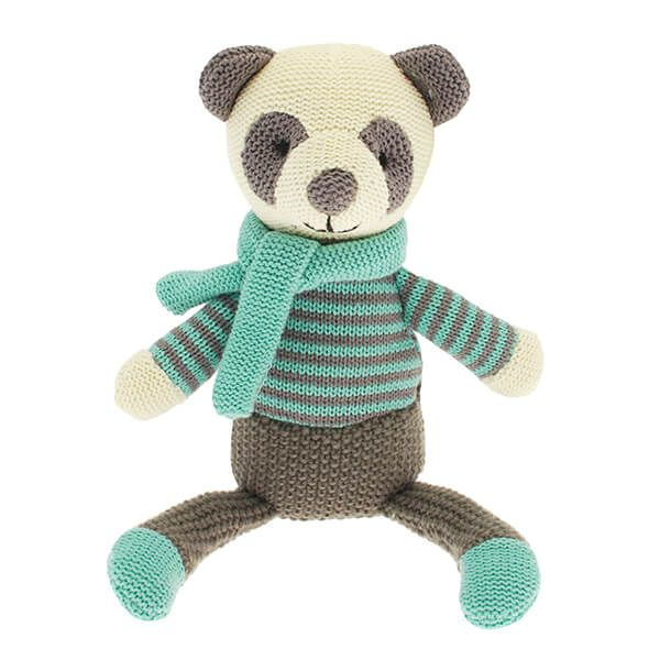 Walton & Co Knitted Panda Toy