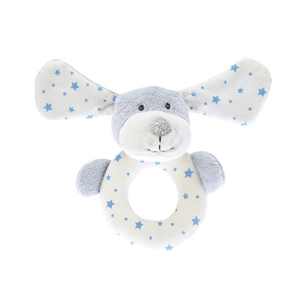 Walton & Co Blue Puppy Rattle