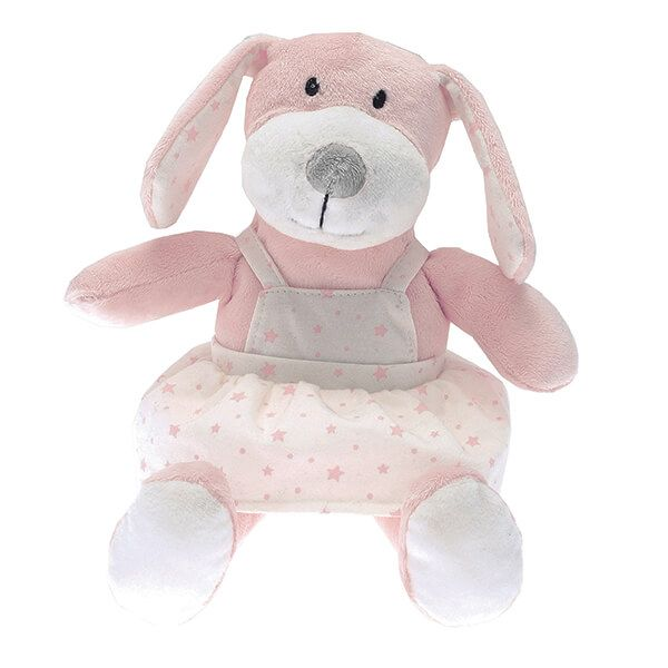 Walton & Co Pink Puppy Toy Peaches