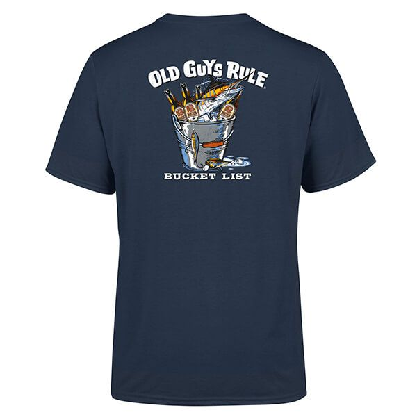Old Guys Rule Blue Dusk Bucket List T-Shirt