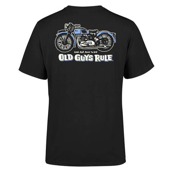 Old Guys Rule Black Triumph T-Shirt