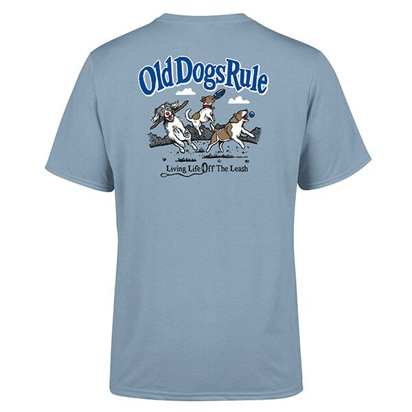 Old Guys Rule Stone Blue Old Dogs Rule T-shirt