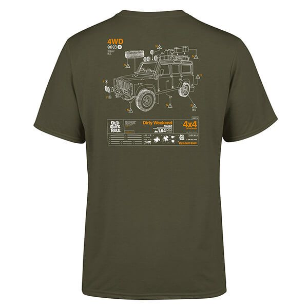 Old Guys Rule Military Green Dirty Weekend IV T-shirt