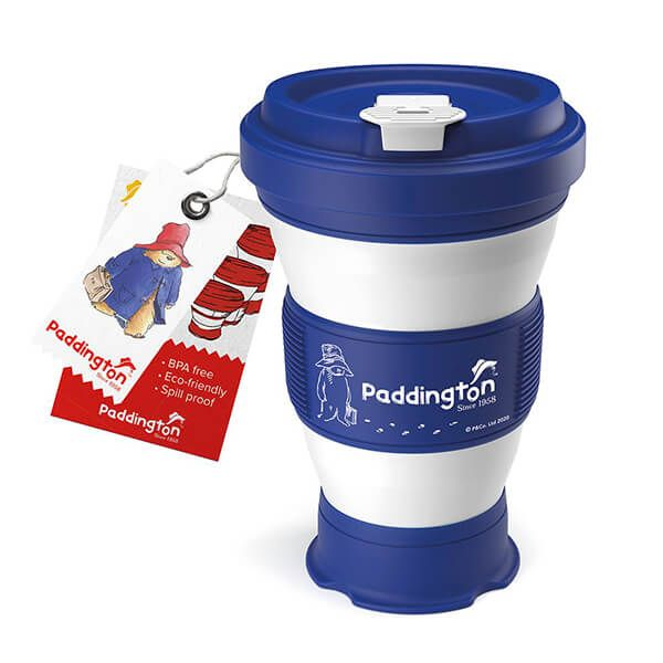 Paddington Bear Collapsible Navy Blue Travel Cup