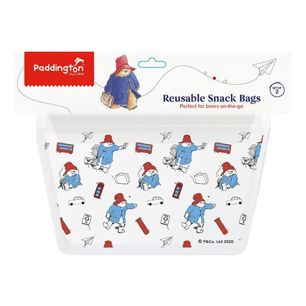 Paddington Bear Snack Zip Bags Set Of 2