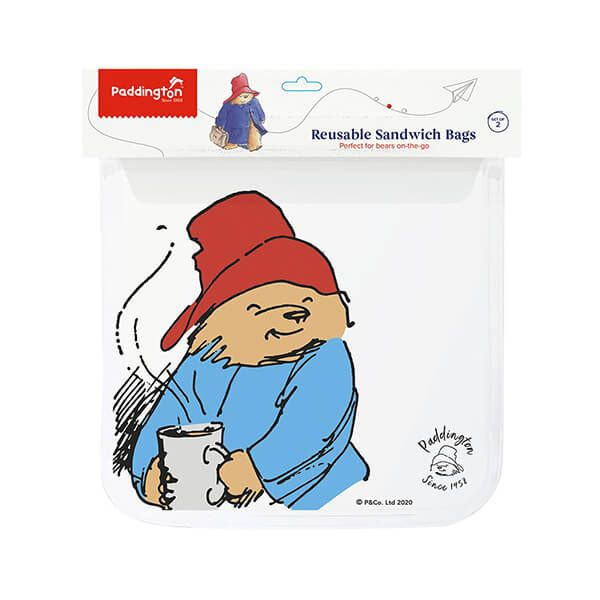 Paddington Bear Sandwich Zip Bags Set Of 2