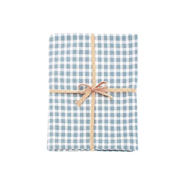 Walton & Co Portland Check Tablecloth Blue Cedar 130x130cm